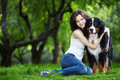 Girl With Dog Royalty Free Stock Photos - 15342858