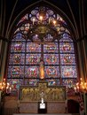 Stained Glass In Notre Dame De Paris, France Royalty Free Stock Photos - 15345208