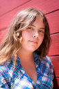 Vertical Portrait Of Pretty 14 Year Old Girl Stock Image - 15388171