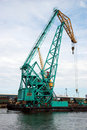 Crane In Harbor Royalty Free Stock Photo - 15395575