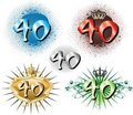 40th Birthday Or Anniversary Stock Image - 15396651