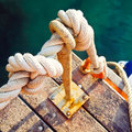 Tied Nautical Rope Royalty Free Stock Images - 15431199