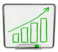 Growth Bars + Arrow Dry Erase Board With Marker Stock Photos - 15432643
