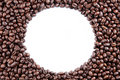 Coffee Beans Circle On White Background Stock Image - 15449081
