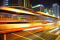 High Speed And Blurred Bus Light Trails Royalty Free Stock Photo - 15449545