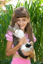 The Girl With A Kitten Stock Photo - 15475930