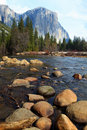 El Capitan And Merced River Stock Photography - 15486992