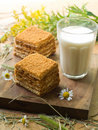 Cake And Milk Royalty Free Stock Image - 15505936