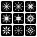 Set Of Icons With Snowflakes Stock Images - 15522444