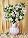 Blossoming Apple-tree In A White Jug Royalty Free Stock Image - 15534216