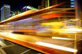 High Speed And Blurred Bus Light Trails Stock Images - 15543224