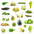 Big Collection Of Green Vegetables And Fruits Royalty Free Stock Photography - 15580777