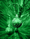 Green Christmas Bulbs Royalty Free Stock Images - 1568399