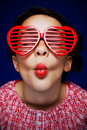 Gril With Shutter Shades Royalty Free Stock Photography - 15601107