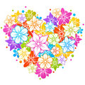 Colorful Floral Heart Royalty Free Stock Photo - 15607305