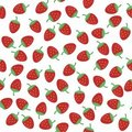 Seamless Background With Strawberry Royalty Free Stock Image - 15636096