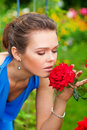 Woman With Red Rose Royalty Free Stock Photography - 15648347