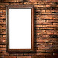 Wood Frame Brick Wall Stock Images - 15651344
