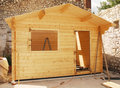 Almost Complete Wooden Cabin Royalty Free Stock Photos - 15690478