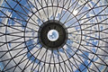 Looking At The Sky Through A Glass Ceiling Royalty Free Stock Images - 15692359