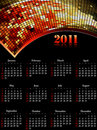 Cool 2011 Calendar, Easy To Edit. Stock Images - 15692374