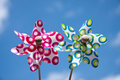 Two Colorful Windmill Toys Stock Photography - 15711262
