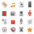Entertainment Icons Set | Red Serie 02 Royalty Free Stock Images - 15727859