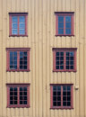 Wooden Wall With Windows Stock Image - 15734331