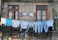 Washed Clothes Drying Outside Stock Photo - 15739470
