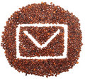Envelope Icon Is Lined With Coffee Beans Stock Photography - 15744862