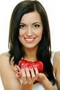 Brunette With Apple Stock Image - 15751341