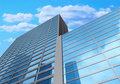 3d Glass Buildings With The Sky And Clouds Royalty Free Stock Images - 15753609