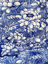 Japanese Porcelain Tile Panel Dated 1875 Royalty Free Stock Photos - 15762948