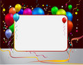 Balloon With Frame Stock Photography - 15766382