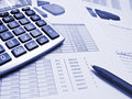 Chart With Pen And Calculator Royalty Free Stock Photography - 15767097