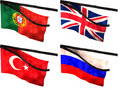 Mourning Flags Royalty Free Stock Image - 15780546