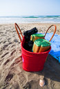 Umbrellas And Beach Bag Stock Photos - 15783093