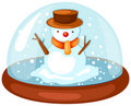 Snowman In Snow Globe Royalty Free Stock Image - 15783636
