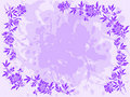 Lilac Floral Frame Royalty Free Stock Photography - 15783657