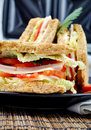Fresh And Delicious Classic Club Sandwich Stock Images - 15821674