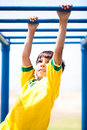 Smart Kid Playing On Jungle Gym Royalty Free Stock Photos - 15822668