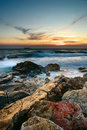 Sea And Rock At The Sunset Stock Images - 15838564