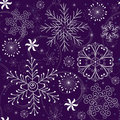 Christmas Seamless Violet Pattern Royalty Free Stock Images - 15843939