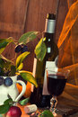 Rustic Red Wine Royalty Free Stock Photos - 15847258
