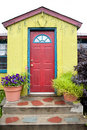 Colorful Building With Red Door Stock Photo - 15853080