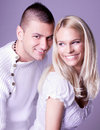 An Attractive Lovely Couple In Romancing Posing Royalty Free Stock Photo - 15858935