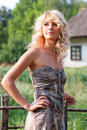 Beautiful Blondie In The Village Royalty Free Stock Photos - 15861008