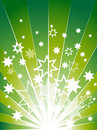 Green Explosion Background With Many Stars Stock Image - 15868701