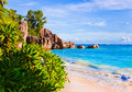 Tropical Beach Source D Argent At Seychelles Stock Images - 15880414