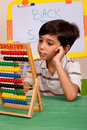 A Student Solving A Math Assignment Stock Images - 15886054